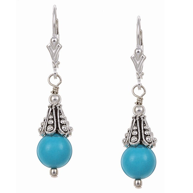 Charming Life Sterling Silver Turquoise Earrings