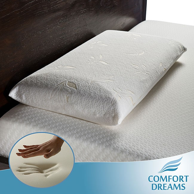 Comfort Dreams Select-A-Firmness Premium 4-pound Density Classic King-size Memory Foam Pillow - Thumbnail 0