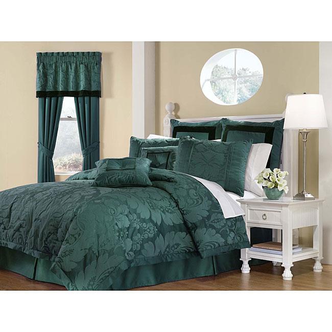 Lorenzo Teal 8-piece Full-size Comforter Set