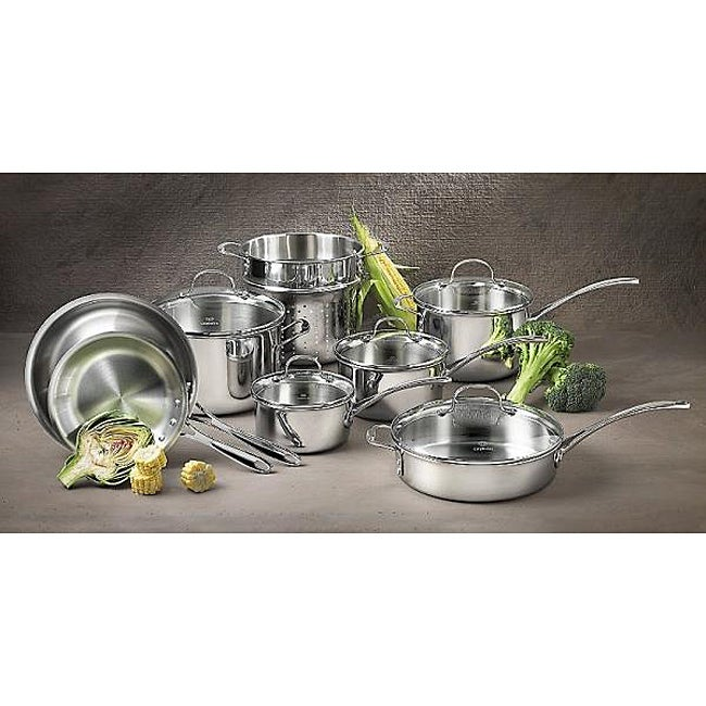Calphalon 13-piece Tri-ply Stainless Steel Cookware Set