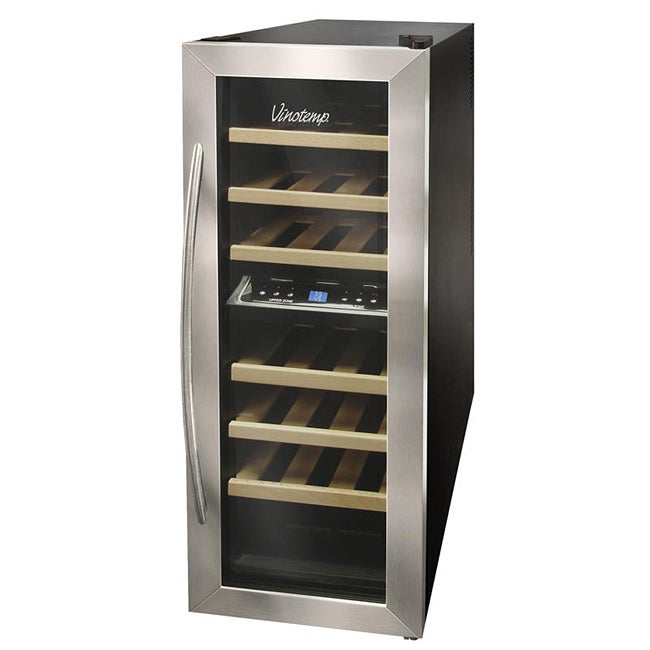 Vinotemp VT-21TEDS-2Z Dual-zone 21-bottle Thermoelectric Wine Cooler