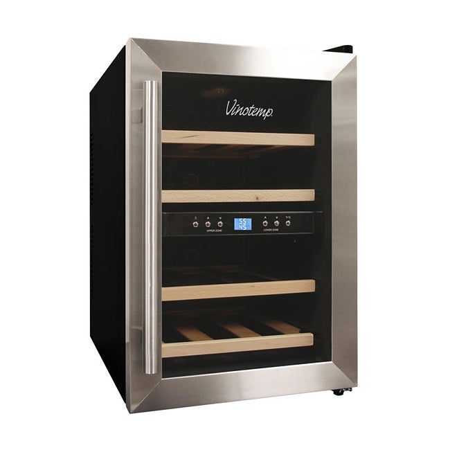 Dual-zone VT-12TEDS-2Z 12-bottle Thermoelectric Wine Cooler