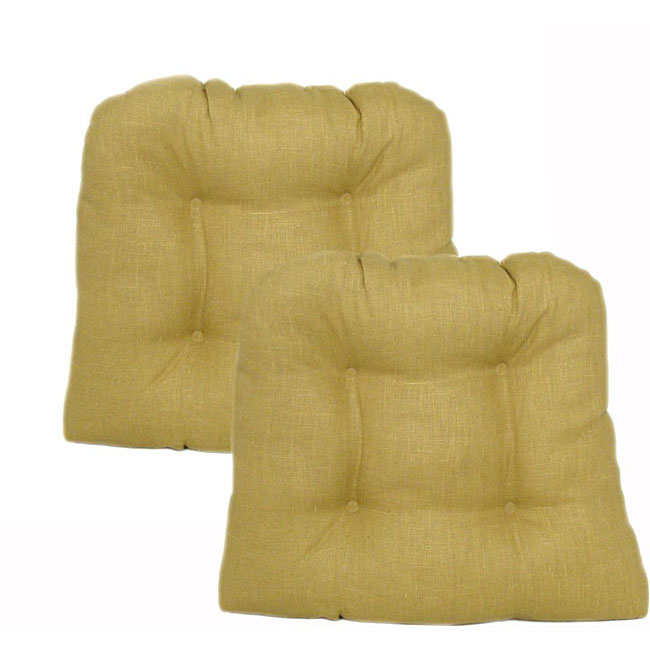 Tuscany Gold Kitchen/ Dining Chair Pads (Set of 2)