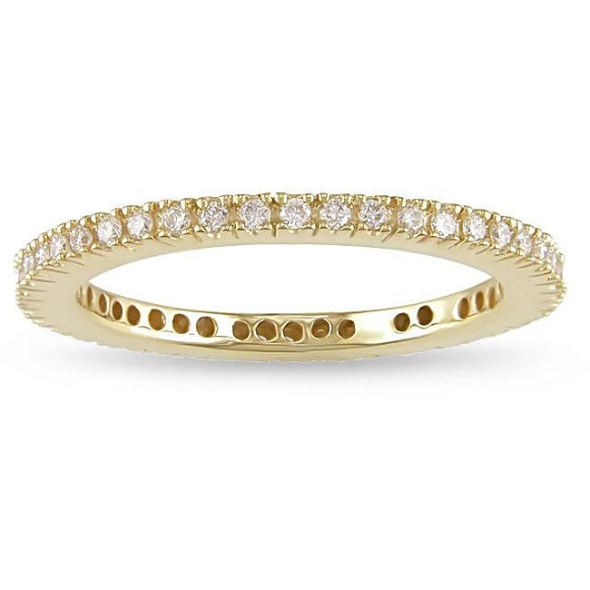 Miadora 18k Yellow Gold 1/3ct TDW Diamond Eternity Ring (G-H, SI1-SI2)