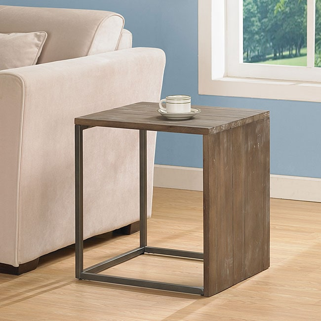 Elements Angle Grey End Table
