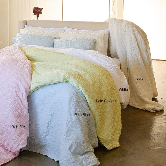 Seabury Voile Cotton Full/ Queen-size 3-piece Duvet Cover Set