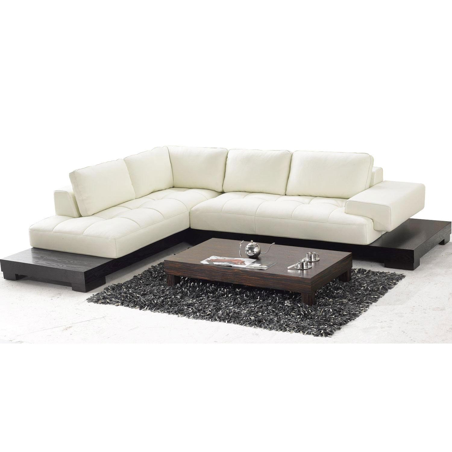 Shop tosh furniture beige leather sectional sofa free shipping today overstock com 5224546
