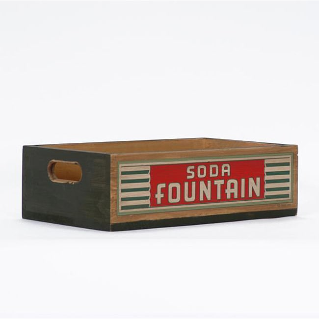 Soda Fountain Green Crate