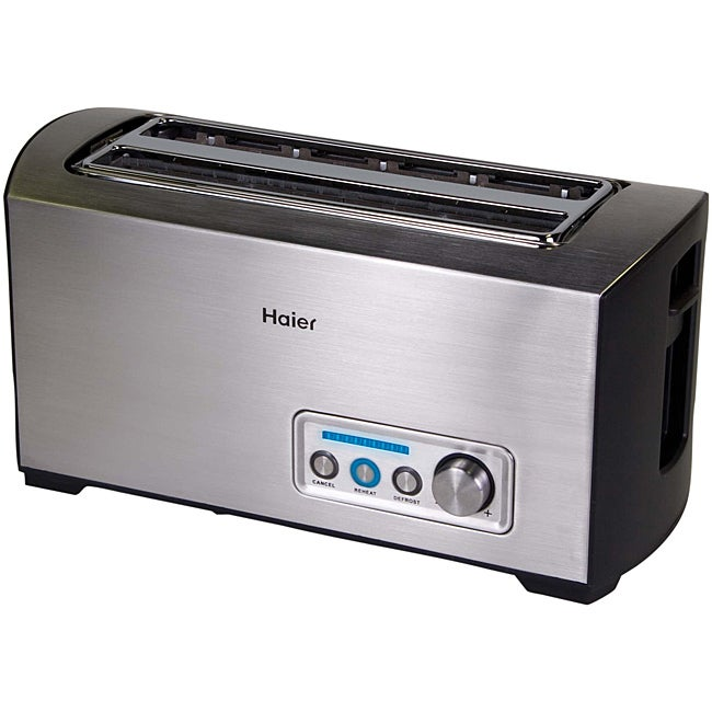 Haier TST240SS Stainless Steel 4-slice Digital Toaster