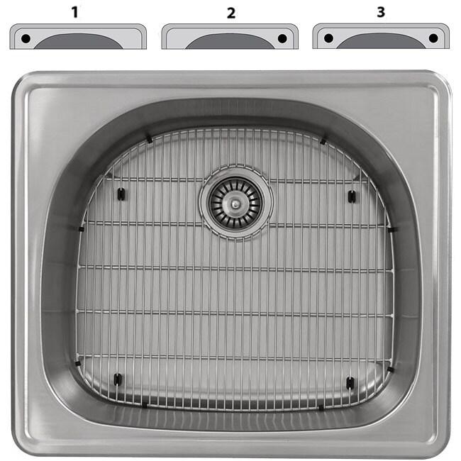 Ticor 16-gauge Steel Overmount Kitchen Sink
