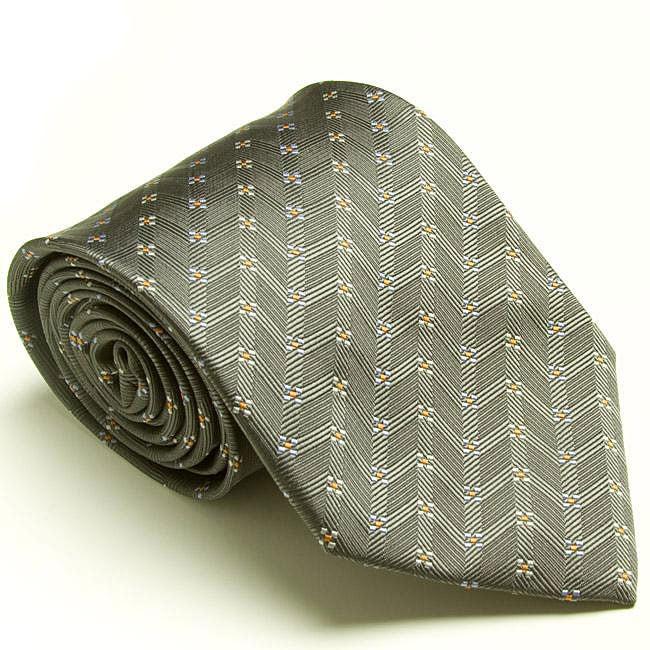 Platinum Ties Men's 'Silver Dollar' Tie