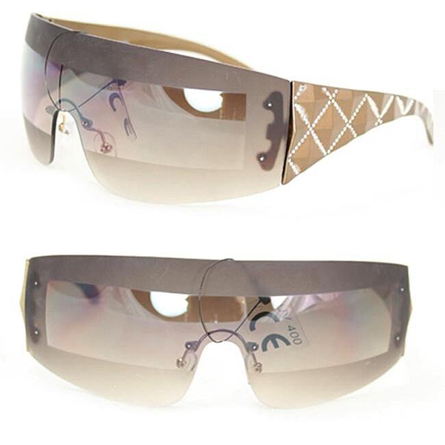 Women's F1506 Brown Rimless Sunglasses