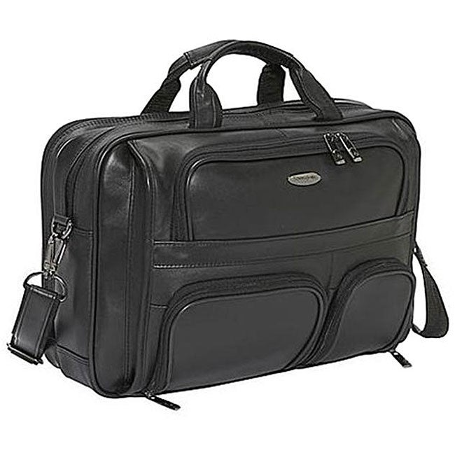 Shop Samsonite Leather Laptop Briefcase Free Shipping
