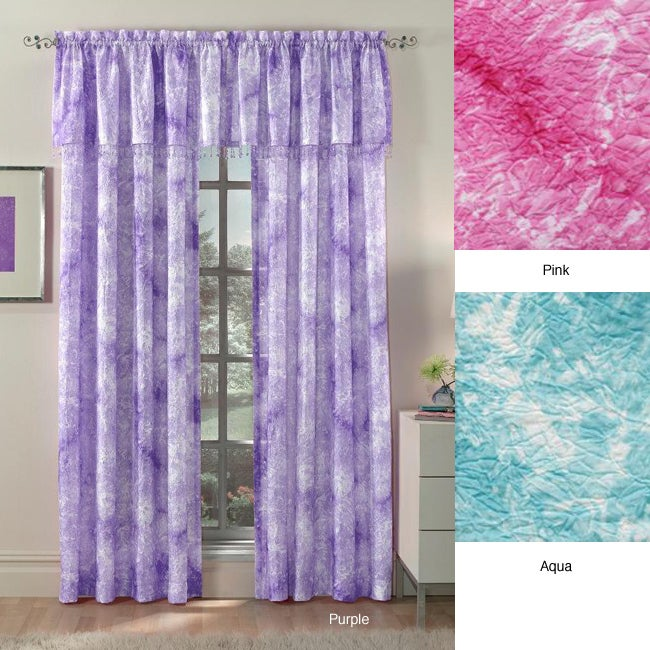 Tie dye swirl 63 inch textured curtain panel pair free shipping on orders o - Rideaux bleu turquoise ...