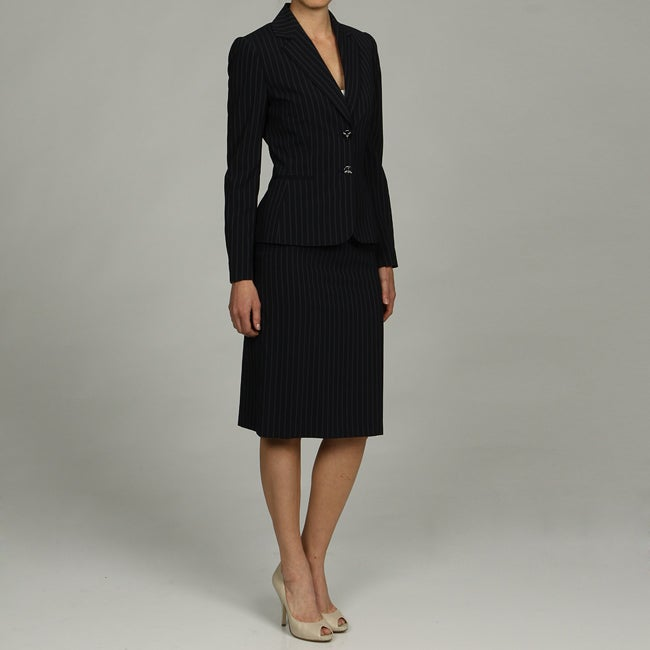 Shop Tahari Asl Women S Pinstripe Skirt Suit Free Shipping Today