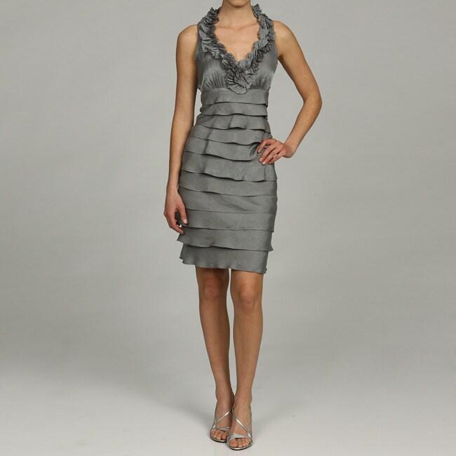 London Times Women S Sleeveless Shutter Pleat Dress Free Shipping Today 5230289