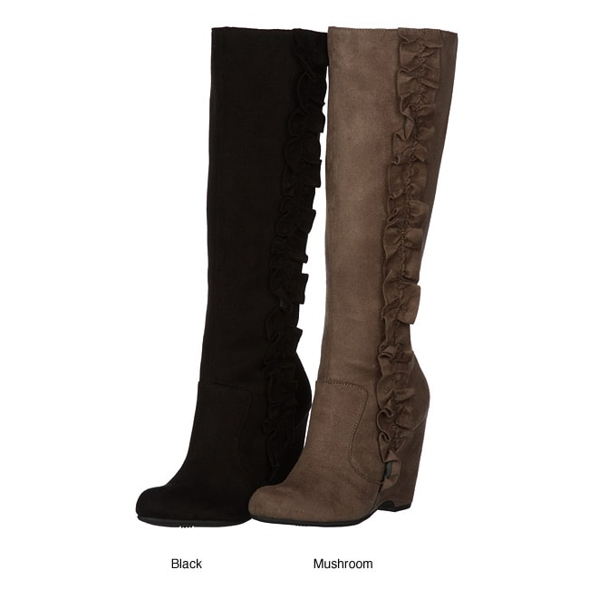 MIA Women's 'Geva' Knee High Wedge Boots FINAL SALE