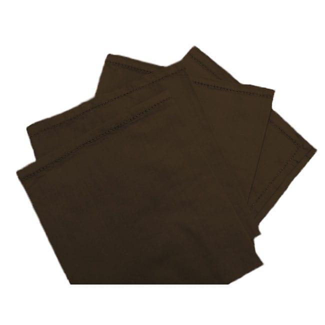 Brown Cotton Napkins (Set of 4)