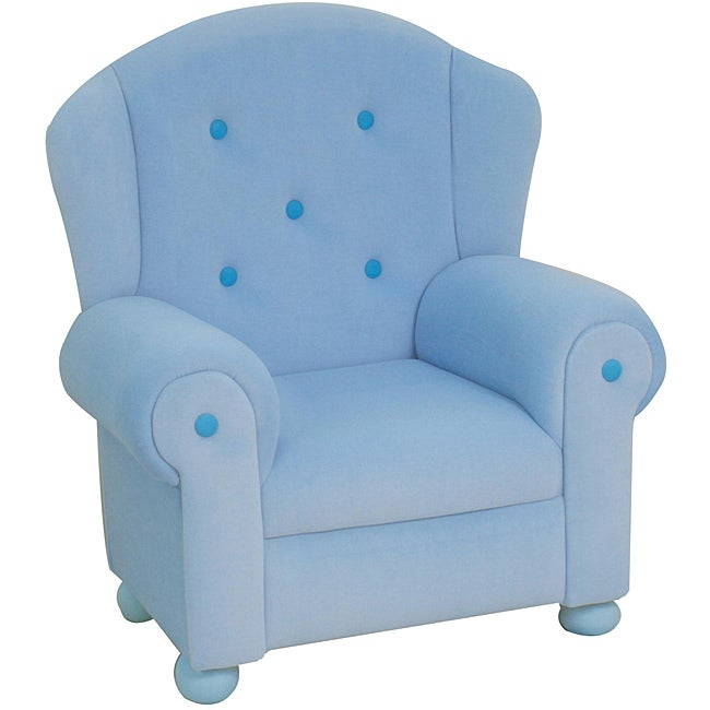 Plush Pastel Blue Kids' Arm Chair