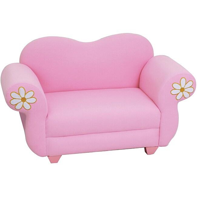 Plush Pastel Kids' Pink Sofa Chair