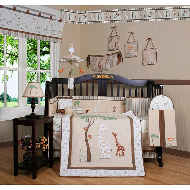 Giraffe Loving Family 13 Piece Crib Bedding Set Free