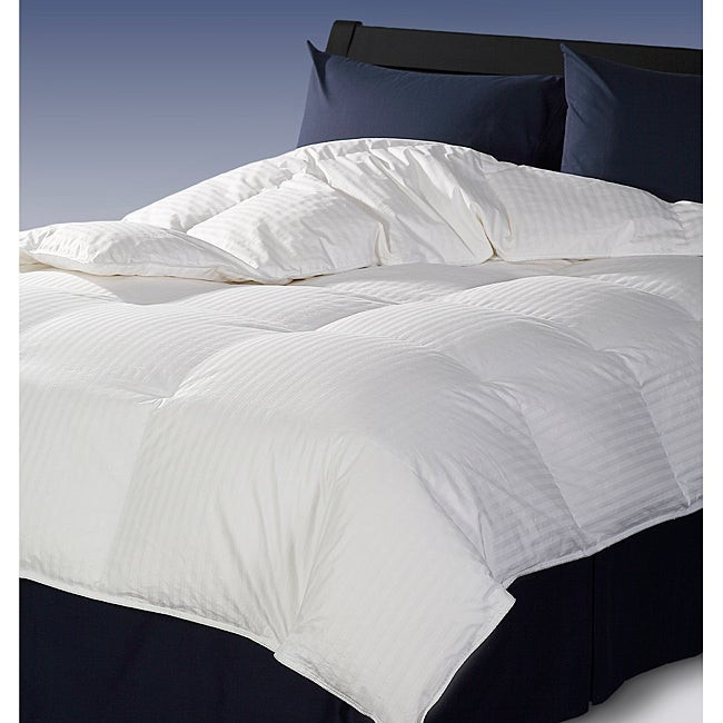 sleeping goose 650 fill power full queen size white goose down comforter free shipping today. Black Bedroom Furniture Sets. Home Design Ideas