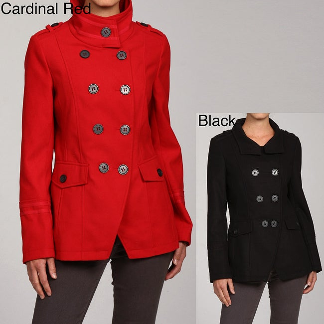 Grane Women's Military style Peacoat - Free Shipping Today