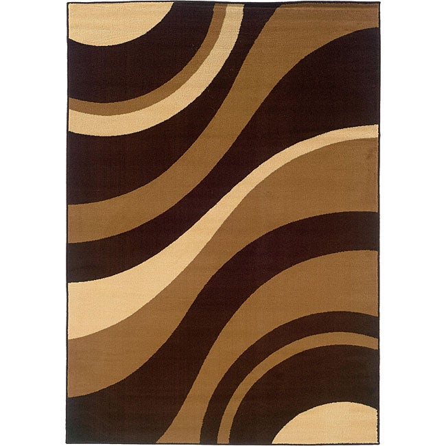 Shop Serenity Abstract Chocolate Rug 7 10 X 10 10 Free