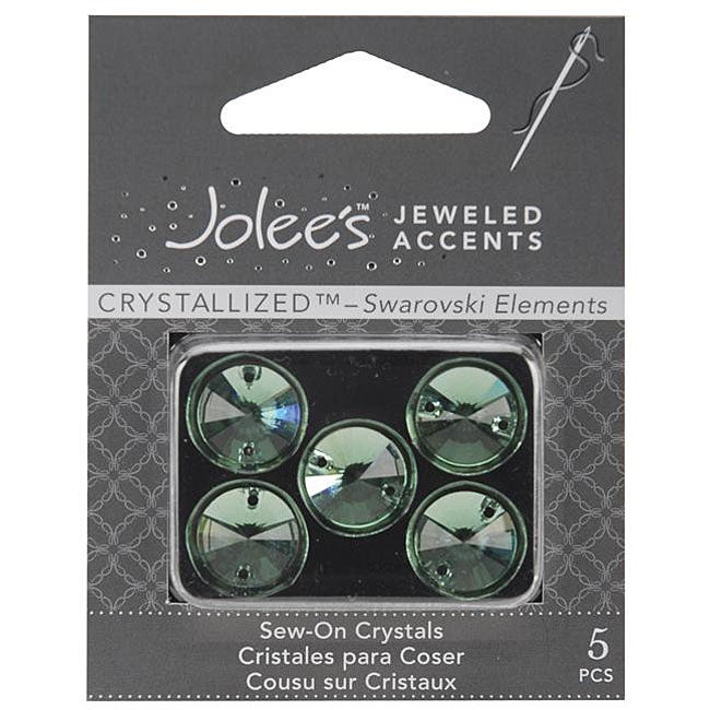 Jolee's Round Sew-on Crystal Elements Jeweled Accents (Pack of 5)