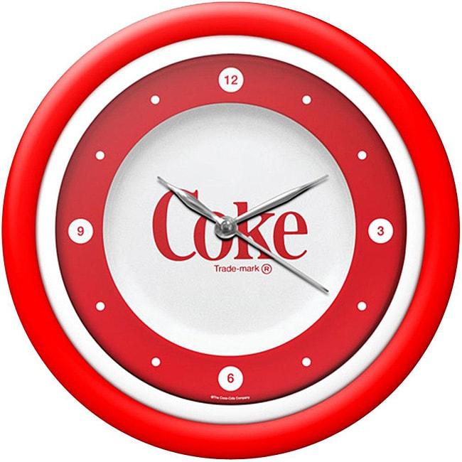 Shop Coca Cola 12 Inch White Neon 1970 S Style Coke Clock