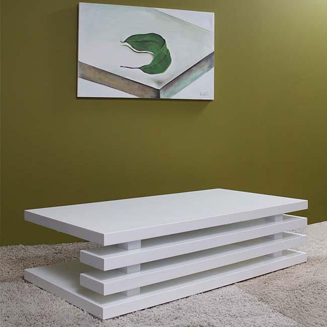 Overstock White Coffee Table.Versa High Gloss White Coffee Table
