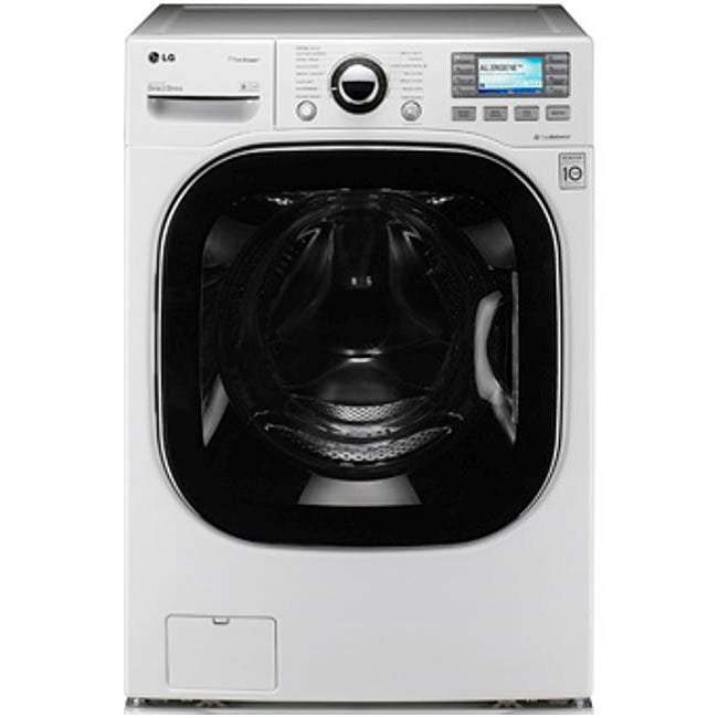LG White 4.8-cu-ft Front Load Steamwasher