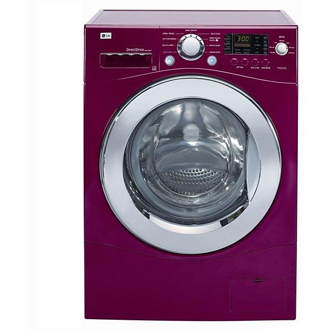 LG Cherry Red 2.7-cubic-foot 24-inch Compact Washer