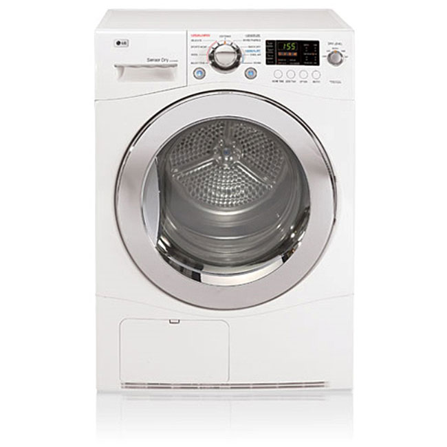 LG White 4.2-cu-ft 24-inch Compact Dryer
