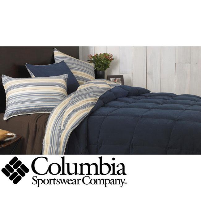 Columbia Tacoma Blue 3-piece Down Alternative Comforter and Sham Set