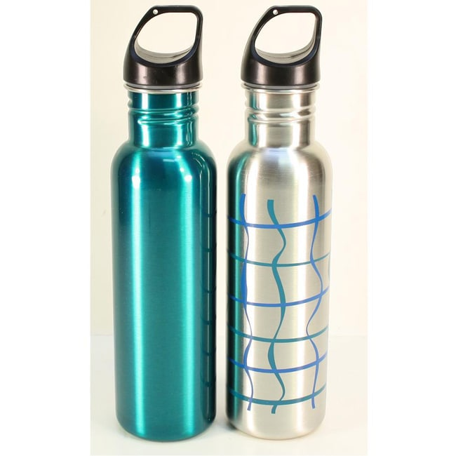 Stainless Steel 24-oz Water Bottles (Set of 2)