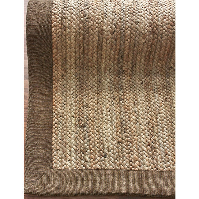 alexa eco natural fiber beige chenille border jute rug 8 39 x 10 39 free shipping today. Black Bedroom Furniture Sets. Home Design Ideas