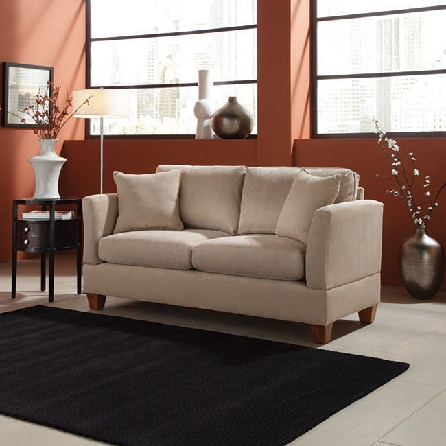 Microfiber 68 inch small space sofa free shipping today for Sofa bed 74 inches