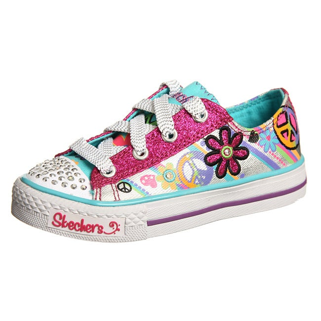 Skechers Girl s Groovy Baby Light up Twinkle toe Shoes
