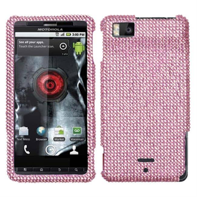Pink Bling Motorola Droid X Protector Case