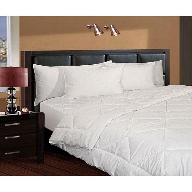 shop white 250 thread count twin xl size down alternative basic bedding 3 piece set free. Black Bedroom Furniture Sets. Home Design Ideas