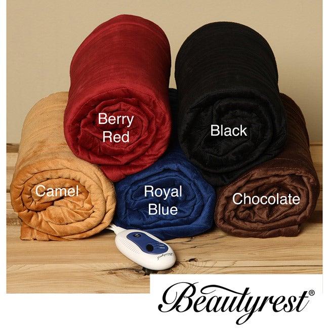 Beautyrest Micromink Electric Throw Blanket