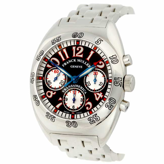 Shop Franck Muller TransAmerica Chronograph Black Dial Watch Free Cool Transamerican Office Furniture Style