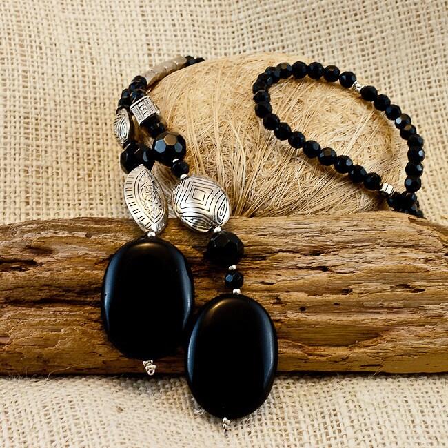 Silver and Agate 'Georgina' Necklace
