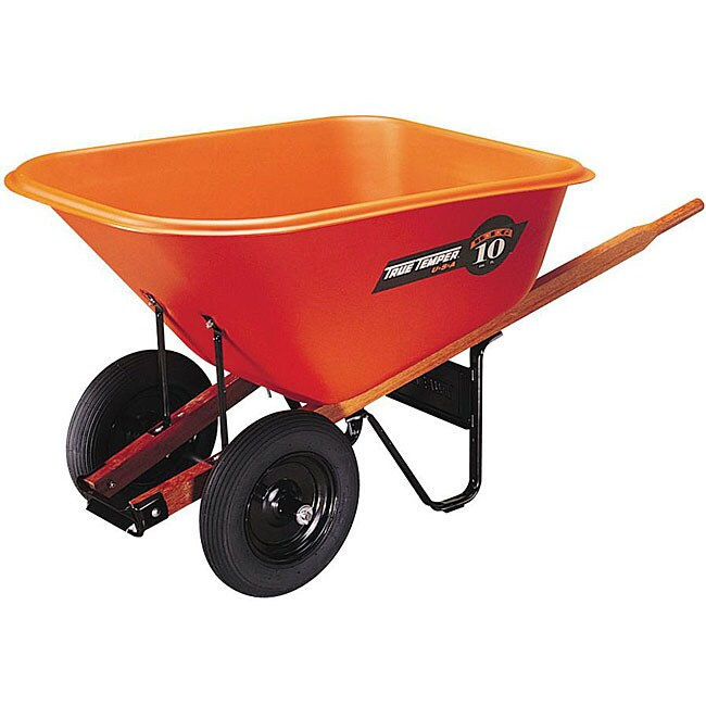 Ames Jackson 10 Cubic Foot Orange Contractor Dual Wheel