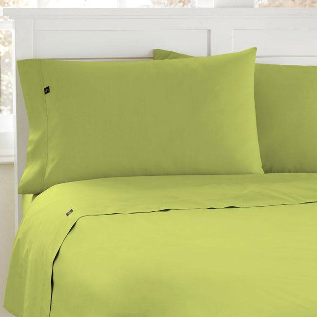 Steve Madden Light Green 200 Thread Count Full-size Sheet set