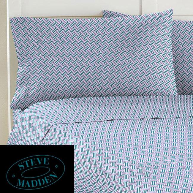 Steve Madden Geo Tile 200 Thread Count Twin XL-size Sheet Set