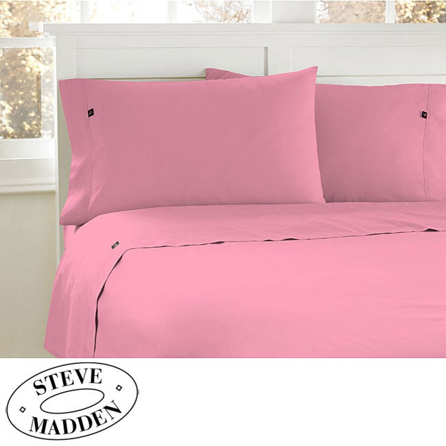 Steve Madden Light Pink 200 Thread Count Twin-size Sheet Set