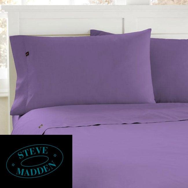 Steve Madden Light Purple 200 Thread Count Queen-size Sheet Set