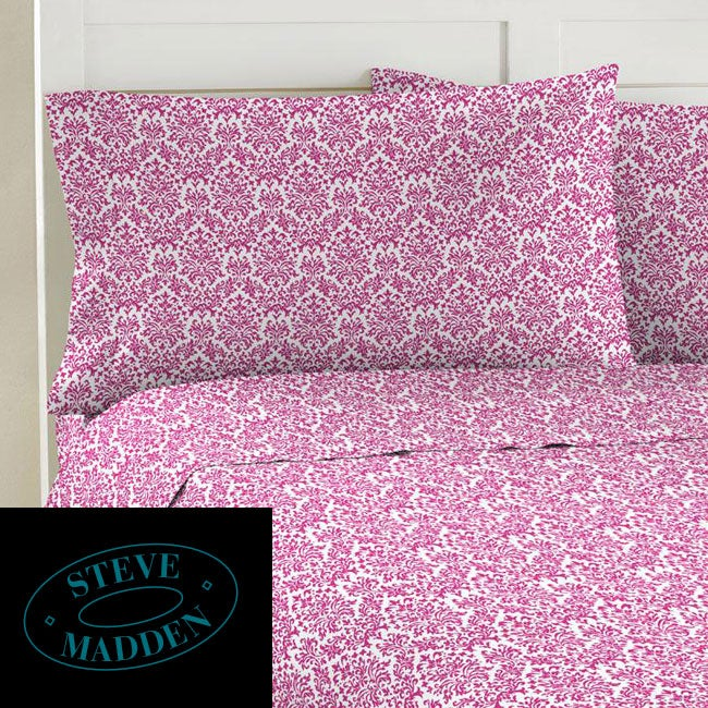 Steve Madden Damask 200 Thread Count Twin XL-size Sheet Set - Thumbnail 0